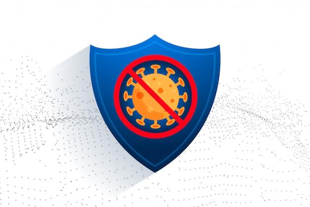 Zatrzymaj tarczę ochronną koronawirusa do celów medycznych