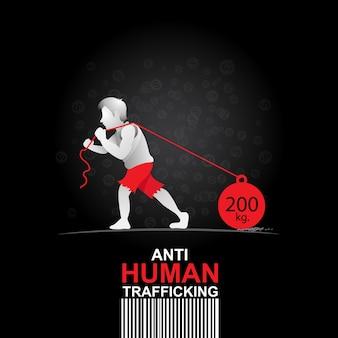 Zatrzymaj tło handlu ludźmi.