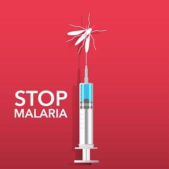 Zatrzymaj tło malarii