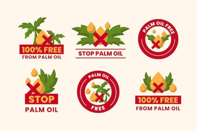 Zatrzymaj zbieranie znaku oleju palmowego