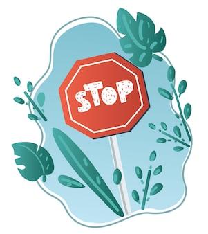 Zatrzymaj znak drogowy.