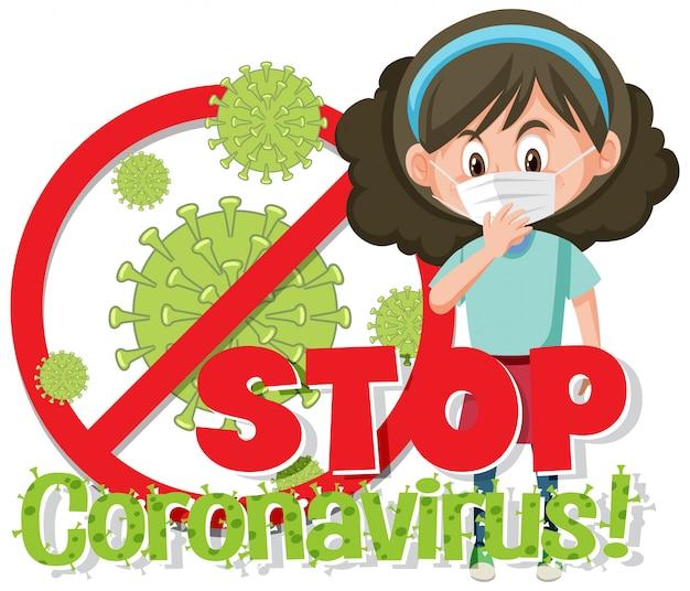 Zatrzymaj znak wirusa corona