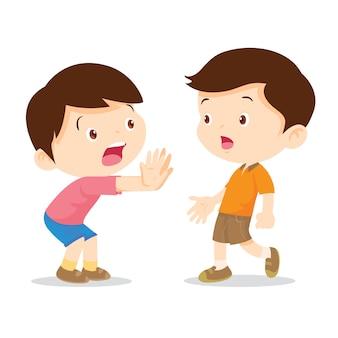Zatrzymanie ręki dziecka