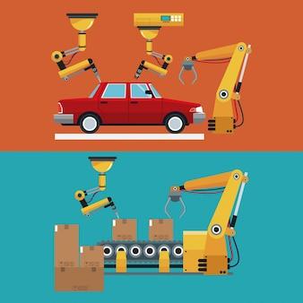 Zautomatyzowany automatyczny fabryka linii produkcyjnej