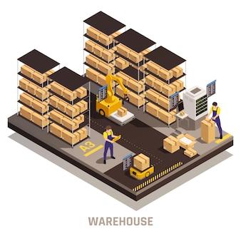 Zautomatyzowany proces przechowywania w magazynie z wydajnym znajdowaniem składu izometrycznego skomputeryzowanego systemu ładunkowego z ładunkiem toru;