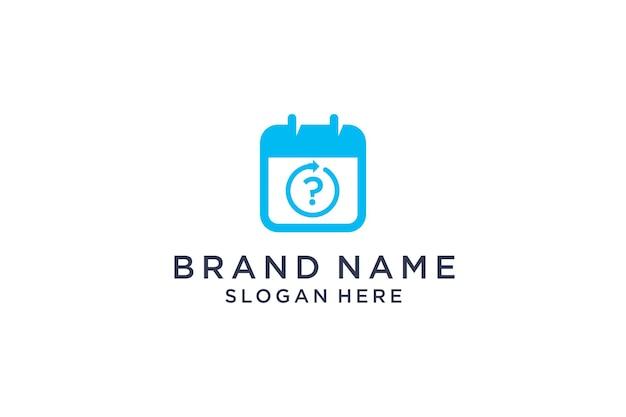 Zauważa projekt logo w znaku zapytania