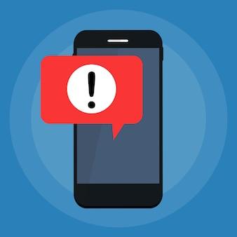 Zawiadomienie powiadomienia mobilne powiadomienie na koncepcji ekranu smartfona. ilustracja