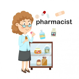 Zawód farmaceuta. ilustracja wektorowa