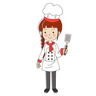 Zawód kobieta szefa kuchni