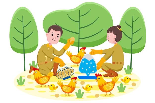 Zawód rolnika kurczaka