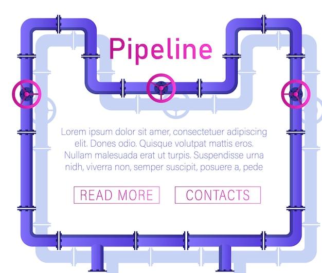 Zawór, złącza rurowe, mierniki, szczegóły wektor zestaw rur.