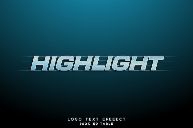 Zaznacz tekst logo banner 3d