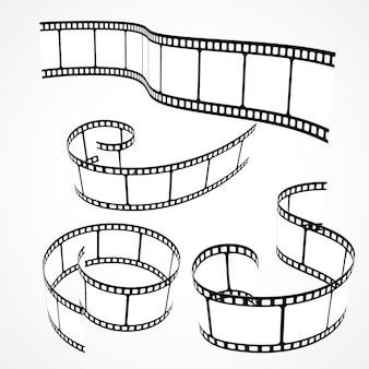 Zbiór 3d taśmy filmowej