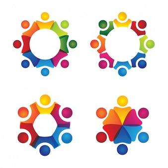 Zbiór abstrakcyjnych logo