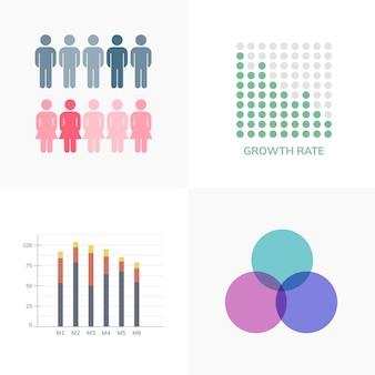 Zbiór biznesowych wektorów infograficznych