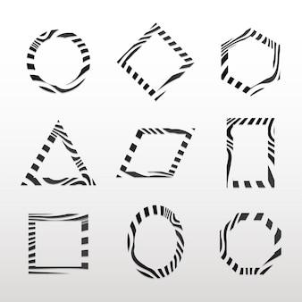Zbiór czarno-białych abstrakcyjnych wektorów