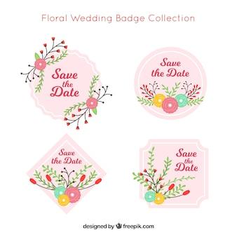 Zbiór czterech odznak ślubnych