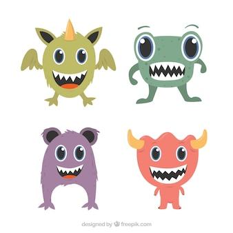 Zbiór czterech zabawnych potworów