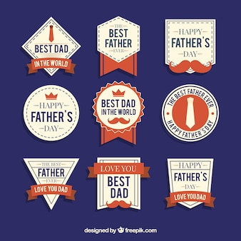 Zbiór dziewięciu dzień ojca odznaki