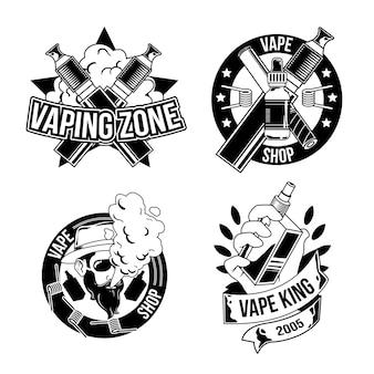Zbiór emblematów vintage drwal, logo. na białym tle