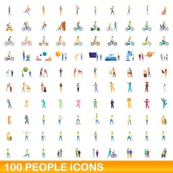 Zbiór ikon ludzi na białym tle