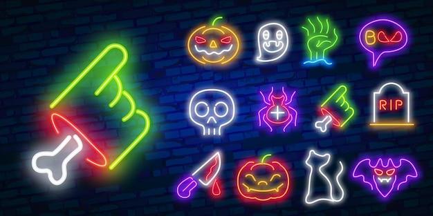 Zbiór ikon pop-artu na niebieskim tle