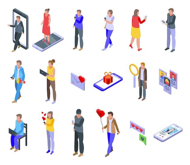 Zbiór ikon randkowych