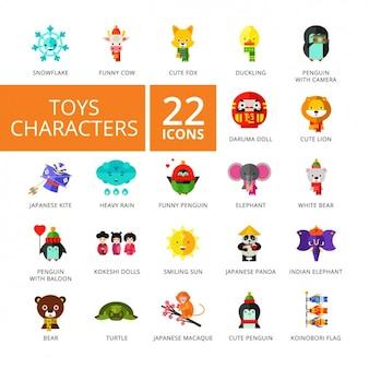 Zbiór ikon z zabawkami