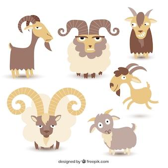 Zbiór ilustracji koza