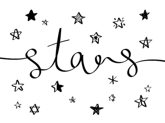 Zbiór ilustrowanych ikon gwiazd