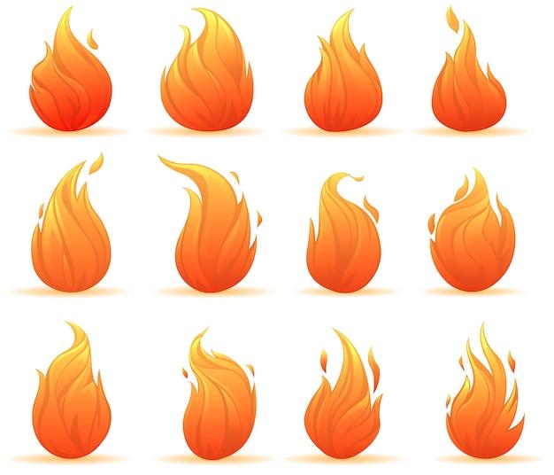 Zbiór jasnych ognisk na białym tle