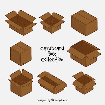 Zbiór kartonów do wysyłki