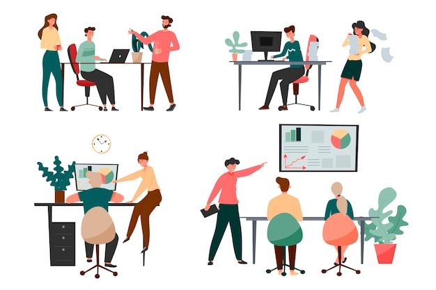 Zbiór kolegów w biurze