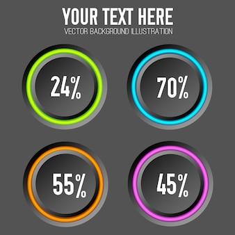 Zbiór kolorowych procentów