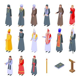 Zbiór księży w szatach