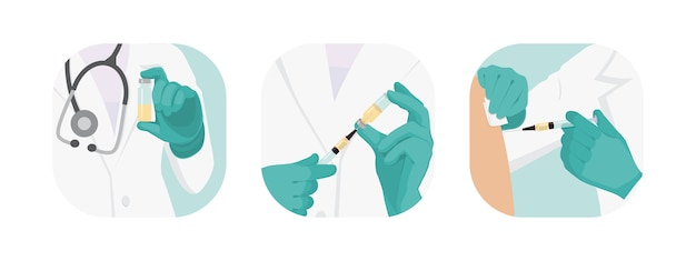 Zbiór lekarzy szczepiących