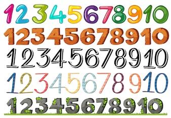 Zbiór liczb i czcionek