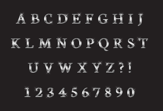 Zbiór liter i cyfr