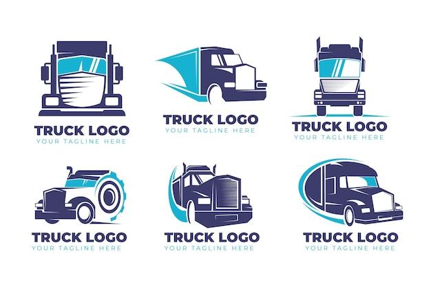 Zbiór logo ciężarówki płaska konstrukcja