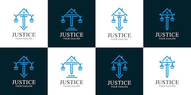 Zbiór logo firmy prawniczej i domu