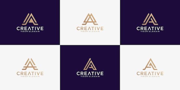 Zbiór logo litery a.