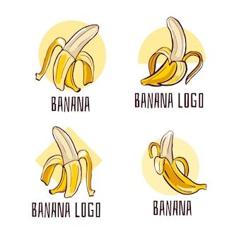 Zbiór logo pilled banana