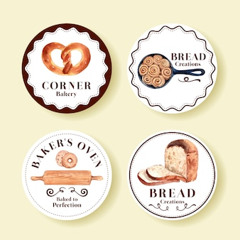 Zbiór logo sklepów piekarniczych
