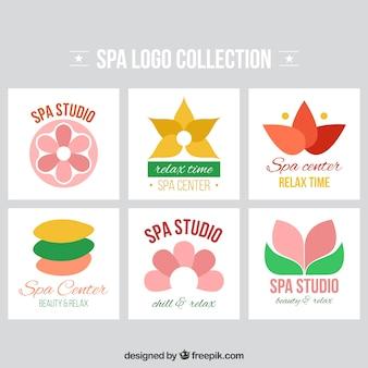 Zbiór logotypów dla salonu spa