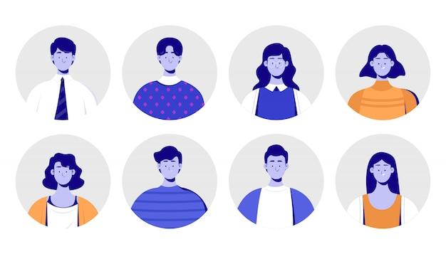 Zbiór ludzi avatar