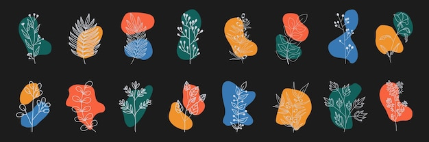 Zbiór najważniejszych okładek historii dla mediów społecznościowych. pastelowe ręcznie rysowane zestaw.