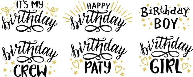 Zbiór napisu happy birthday