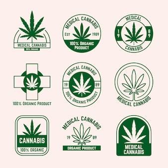 Zbiór odznak medycznych konopi