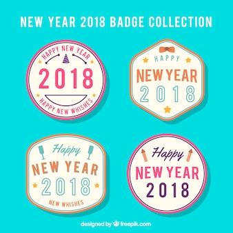 Zbiór odznaki na nowy rok 2018