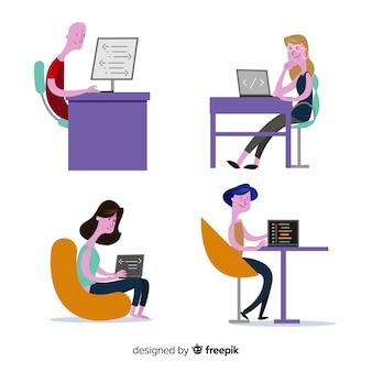 Zbiór osób pracujących w domenie it